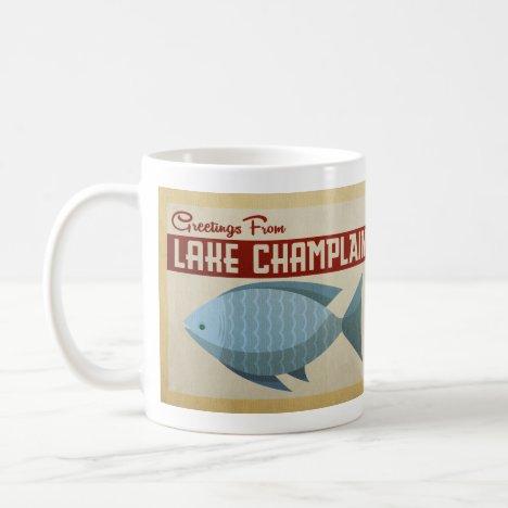 Lake Champlain Fish Vintage Travel Coffee Mug
