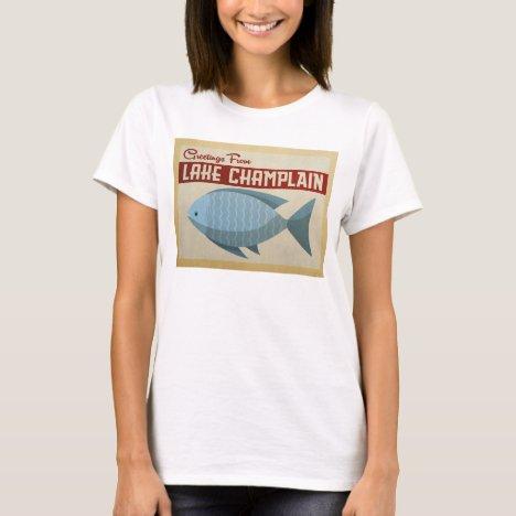 Lake Champlain Fish Vintage Travel T-Shirt
