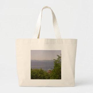 Lake Champlain from Battery Park, Burlington, VT Large Tote Bag