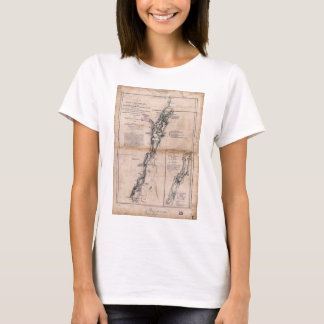 Lake Champlain Lake George Crown Point Map (1776) T-Shirt
