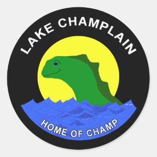 Lake Champlain Round Stickers