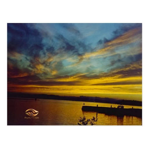 Lake Champlain Sunset Vermont Postcards
