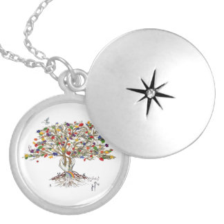 Lake Charles Pride Tree (pendant) Silver Plated Necklace