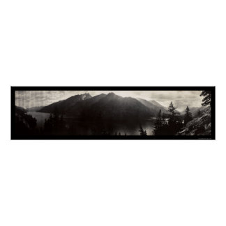 Lake Chelan, WA Cascade Mountains Photo 1908 Poster