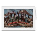 Lake City, Colorado - Large Letter Scenes Card