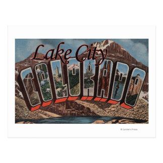 Lake City, Colorado - Large Letter Scenes Postcard