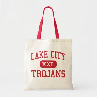 Lake City - Trojans - High - Lake City Michigan Canvas Bags