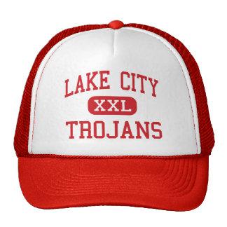 Lake City - Trojans - High - Lake City Michigan Trucker Hats