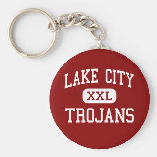 Lake City - Trojans - Middle - Lake City Michigan Keychain