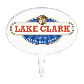 Lake Clark National Park Cake Topper