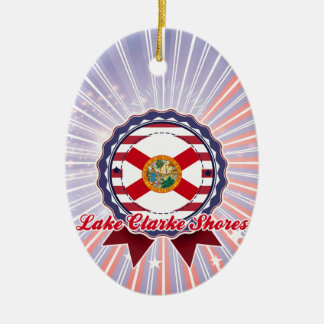 Lake Clarke Shores, FL Double-Sided Oval Ceramic Christmas Ornament