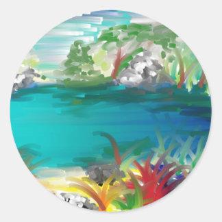 lake classic round sticker