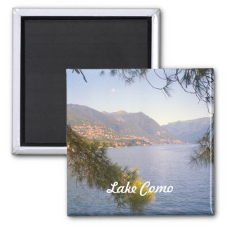 Lake Como 2 2 Inch Square Magnet