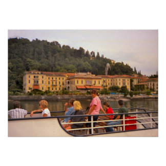 Lake Como, Arriving by boat Poster