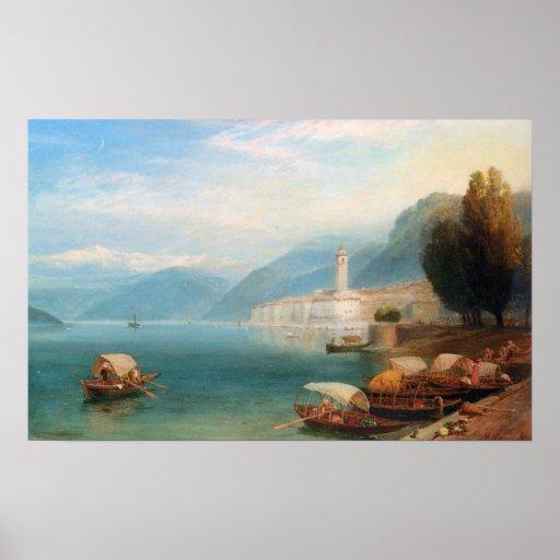 Lake Como - Birket Foster Print