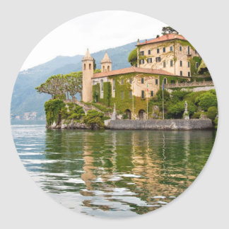 Lake Como Classic Round Sticker