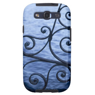 Lake Como, detail, view of walkway iron railing Samsung Galaxy S3 Covers