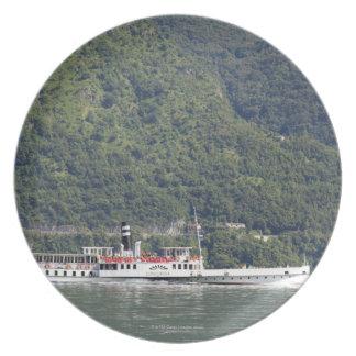 Lake Como, ferry boat Melamine Plate