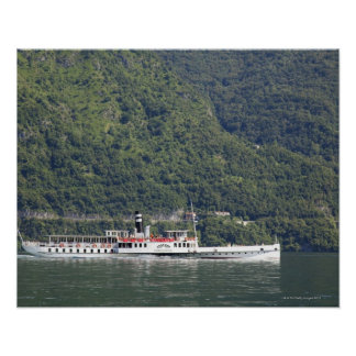 Lake Como, ferry boat Poster