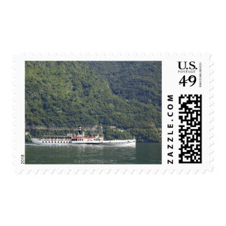 Lake Como, ferry boat Stamp