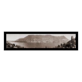 Lake Como Italy Photo 1910 Poster