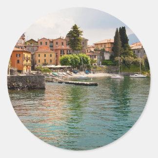 Lake Como MIlan Classic Round Sticker