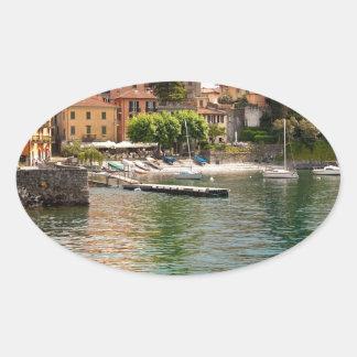 Lake Como MIlan Oval Sticker