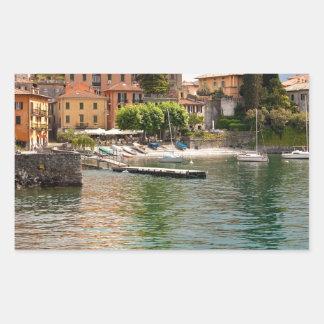 Lake Como MIlan Rectangular Sticker