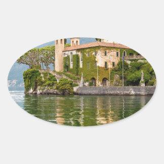 Lake Como Oval Sticker