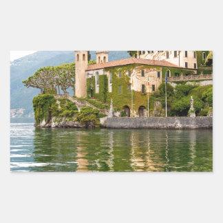 Lake Como Rectangular Sticker