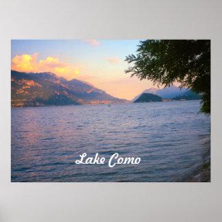 Lake Como, Sunset over Lake Como Poster