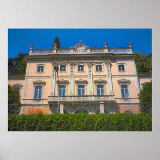 Lake Como, Villa with a lakeside view Poster