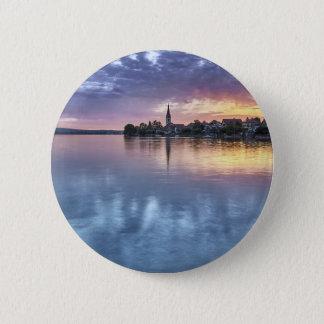 lake Constance Christmas city lights landscape Button
