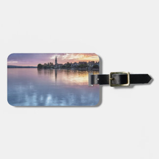 lake Constance Christmas city lights landscape Luggage Tag