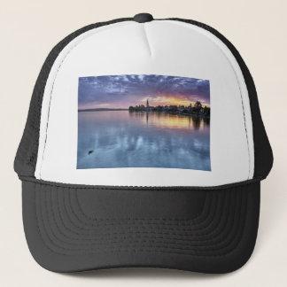 lake Constance Christmas city lights landscape Trucker Hat