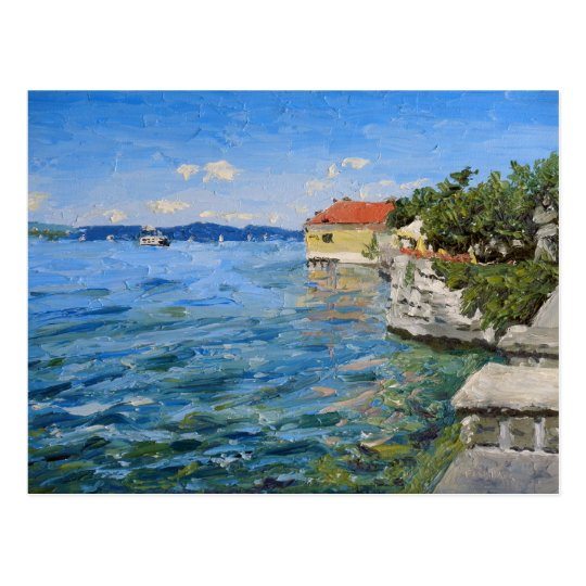 Lake Constance Oil Painting Postcard