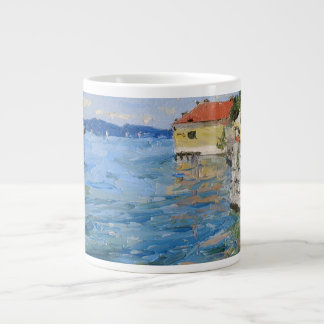 Lake Constance Oil Painting 20 Oz Large Ceramic Coffee Mug