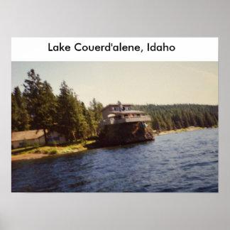 Lake Couerd'alene, Idaho House Poster