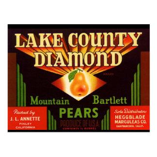 Lake County Diamond Pears Postcards