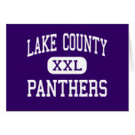 Lake County - Panthers - Senior - Leadville Greeting Card
