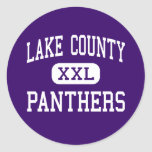 Lake County - Panthers - Senior - Leadville Round Sticker