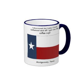 Lake Creek Settlement - Montgomery , Texas Ringer Coffee Mug
