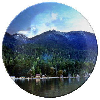 Lake Crescent Cabins Olympic National Park Dinner Plate