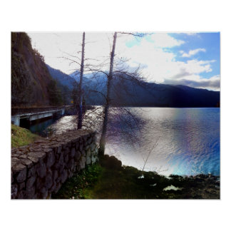 Lake Crescent Olympic National Park Poster