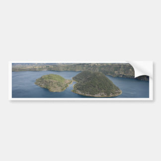 Lake Cuicocha - A Volcanic Crater Lake in Ecuador Bumper Sticker