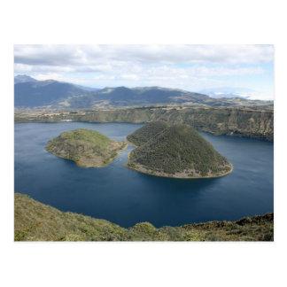 Lake Cuicocha - A Volcanic Crater Lake in Ecuador Postcard