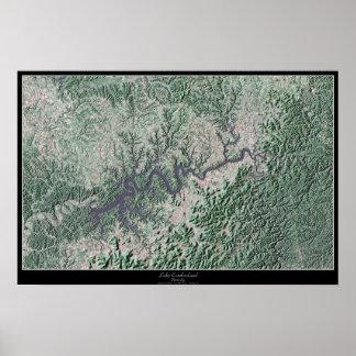 Lake Cumberland Kentucky, Kentucky satellite poste Poster