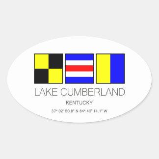 Lake Cumberland Kentucky Nautical Flag Oval Sticker