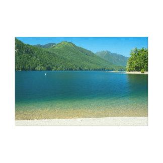 Lake Cushman Beach Canvas Print