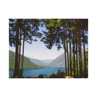 Lake Cushman in Summer Canvas Print